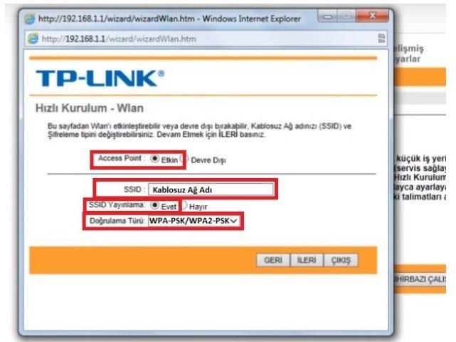 TP Link TD W8961N Modem Kurulumu Resimli Anlatım, TP Link TD W8961N Modem Ayarı, TP Link TD W8961N Kablosuz ayarı,TP Link TD W8961N Kopma Sorunu