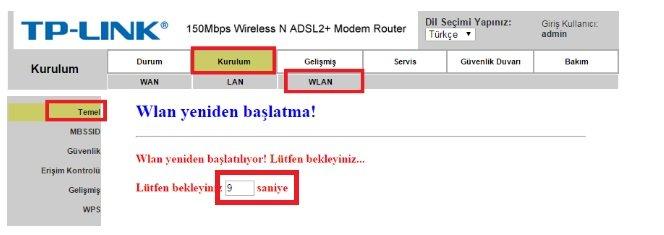 TP Link TD854W Modem Kurulumu Resimli Anlatım, TP Link TD854W, TP Link TD854W kopma sorunu , TP Link TD854W Modem Şifresi , TP Link TD854W Kablosuz Modem Kurulumu