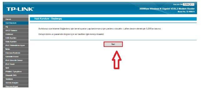TTNET Tp Link Td 9970 Modem Kurulumu Resimli Anlatım, TTNET Tp Link Td 9970 Modem Ayarı, TTNET Tp Link Td 9970 Kablosuz Ayarı,TTNET Tp Link Td 9970 Kopma Sorunu